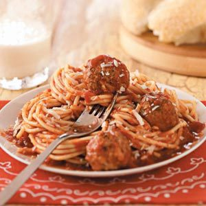 Italian Spaghetti and Meatballs Recipe | Taste of Home
