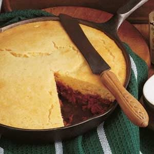 Meat 'n' Pepper Corn Bread Recipe