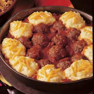Meatball Chili with Dumplings