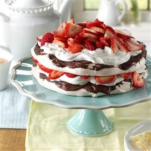 Strawberry-Chocolate Meringue Torte Recipe