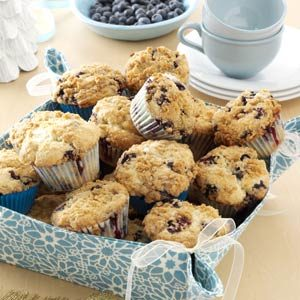 Lemon-Streusel Blueberry Muffins Recipe