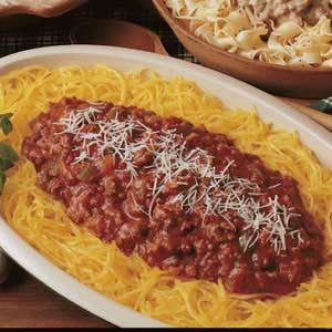 Spaghetti Squash with Meat Sauce Recipe