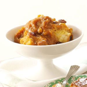 Cranberry-Pumpkin Bread Pudding Recipe