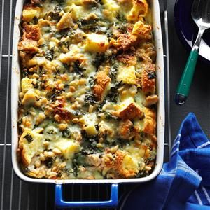 Pesto Chicken Strata Recipe