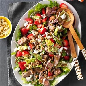 Strawberry-Blue Cheese Steak Salad Recipe