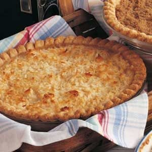Golden Coconut Peach Pie Recipe