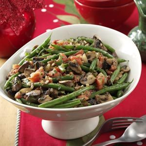 Portobello & Green Bean Saute Recipe