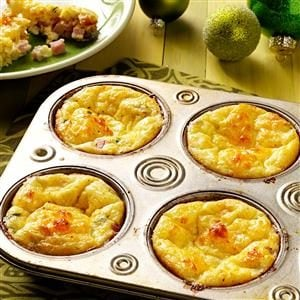 Ham & Gruyere Mini Quiches Recipe