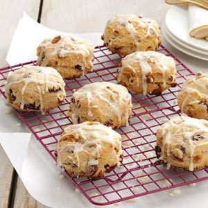 Glazed Cranberry Biscuits Recipe