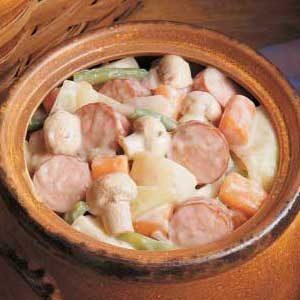 Sausage and Mushroom Stew Recipe
