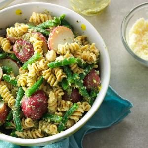 Pesto Pasta & Potatoes Recipe
