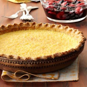 Lemon Chess Pie with Berry Sauce Recipe
