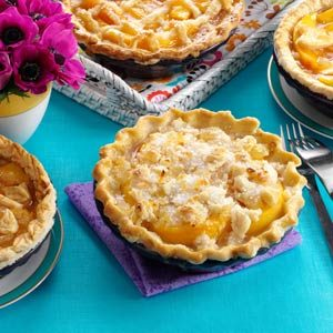 Ginger Peach Pies Recipe