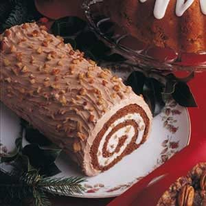 Mocha Butter Cream Yule Log Recipe