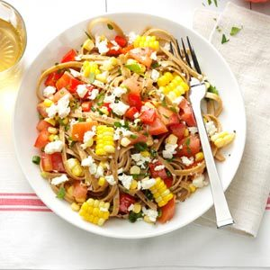 Fresh Corn & Tomato Fettuccine Recipe