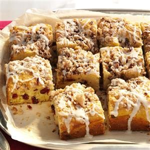 Overnight Cranberry-Eggnog Coffee Cake Recipe