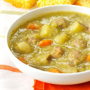Split Pea Soup with Meatballs Recipe
