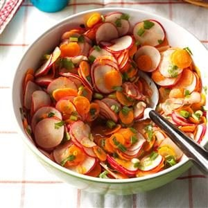 Radish, Carrot & Cilantro Salad Recipe