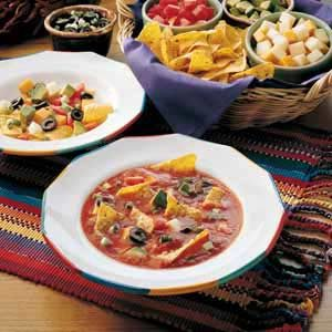 Avocado and Olive Taco Soup Recipe