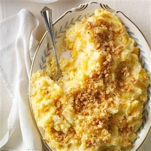Triple Mash with Horseradish Bread Crumbs