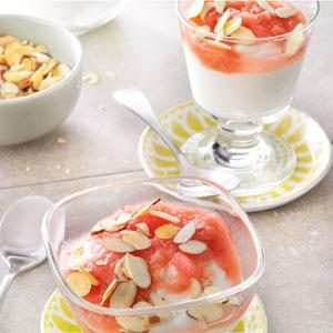 Rhubarb Compote with Yogurt & Almonds Recipe