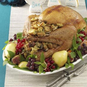 Mushroom-Onion Stuffed Turkey Recipe