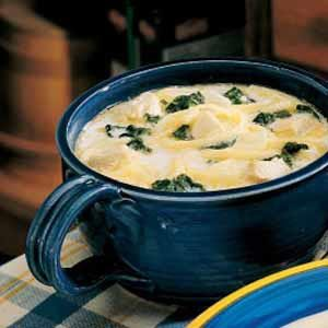 Spinach Cheese Soup Recipe