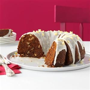 Ginger-Walnut Bundt Cake Recipe