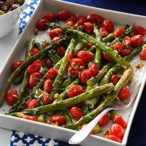 Roasted Asparagus & Tomatoes Recipe