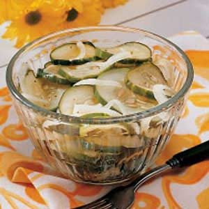 Crisp Marinated Cukes Recipe