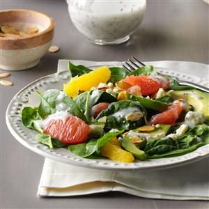 Citrus Avocado Spinach Salad Recipe