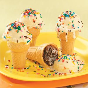 Brownie Ice Cream Cones