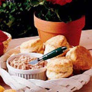 Biscuits with Ham Butter Recipe