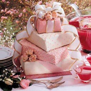 wedding cake tasting recipes gift box wedding cake recipe taste of home 26227