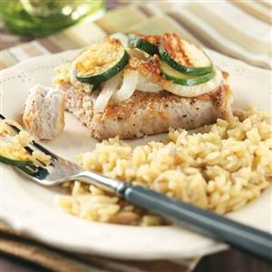 Skillet Pork Chops with Zucchini Recipe