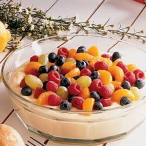 Fruit-Topped Almond Cream Recipe