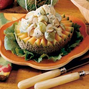 Chicken Salad with Cantaloupe Rings Recipe