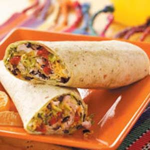 Turkey Tortilla Roll-Ups Recipe