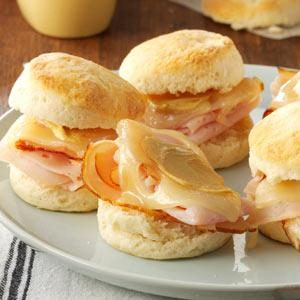 Turkey & Swiss Biscuit Sliders Recipe