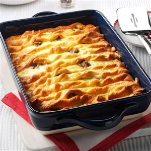Double-Crusted Sausage Egg Casserole Recipe