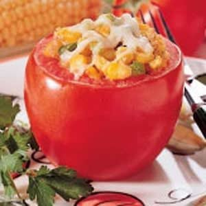 Cheesy Corn-Stuffed Tomatoes Recipe