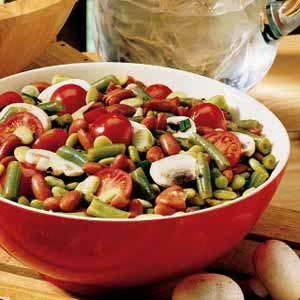 Three-Bean Garden Salad Recipe