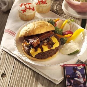 Caramelized Onion-Bacon Burgers Recipe