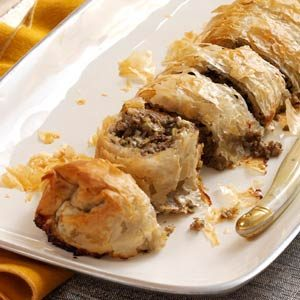 Mushroom & Leek Strudel Recipe photo by Taste of Home