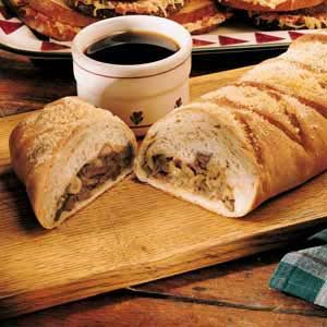 French Onion-Beef Strudel Recipe