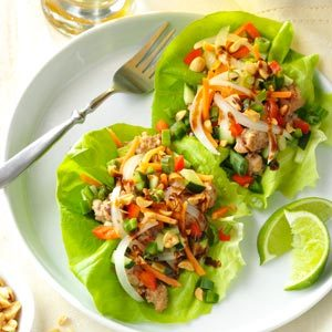 Vietnamese Pork Lettuce Wraps Recipe