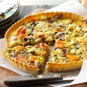 Mushroom & Smoked Salmon Tarts Recipe