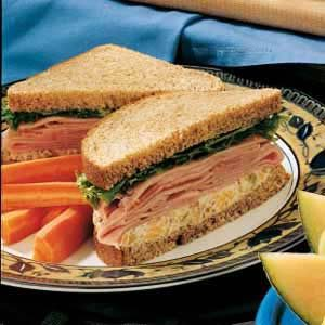 Ham and Double Cheese Sandwiches Recipe