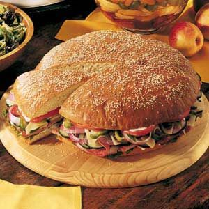 Giant Picnic Sandwich Recipe