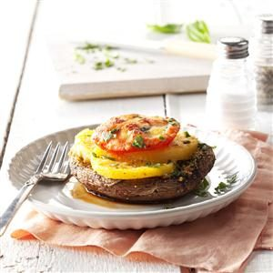 Portobello Polenta Stacks